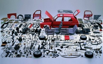 Volkswagen brand doesn't mind showing all parts used to create their product makes and models.